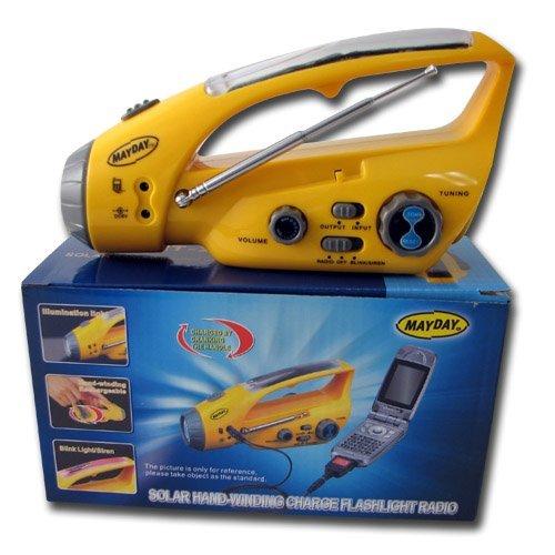 FM Solar Dynamo Radio charger w/Flashlight