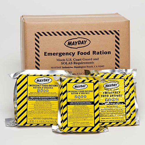 Emergency Food Ration Bar Mayday 2400 Calories 6 pack