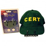 Clip on 5 LED light for hard hat & cap