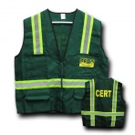 CERT Safety Jacket  Vest with Reflective Stripes